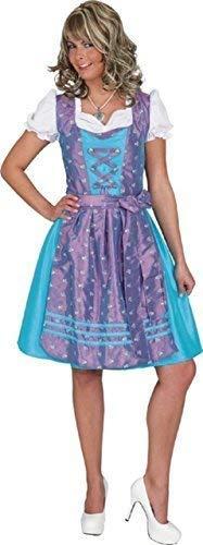 (Fancy Me Damen Oktoberfest Bayrisch Dienst Dirndel Deutsch Festival-Karneval Kostüm Kleid Outfit - Blau, UK 18 (EU 46))