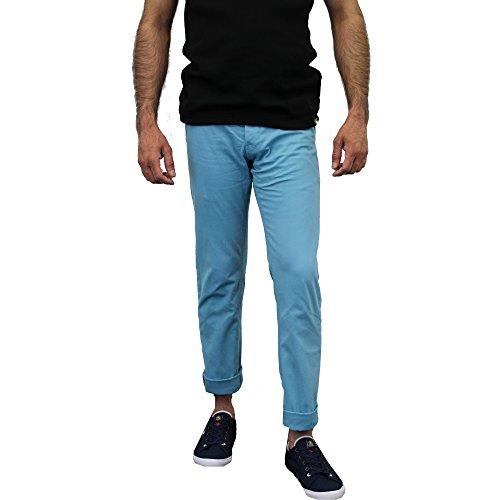 Herren Chino Jeans Huston Harbour Kushiro City Hosen Klassische Bequeme Passform Sommer Blau - 1174ANGARA