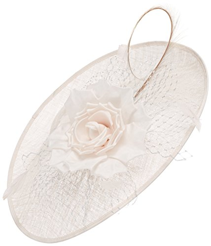 Jacques Vert Women's Mesh Flower Disc Headband, Beige (Neutral), One Size