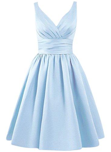 Azbro -  Vestito  - Senza maniche  - Donna azzurro cielo