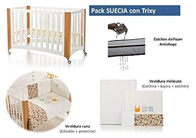 Bolin Bolon Pack Cuna-minicuna colecho SUECIA completa TRIXY