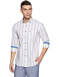 Allen Solly Men's Striped Slim Fit Casual Shirt