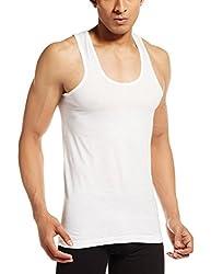 VIP Mens Cotton Vests (Pack of 6) (White - Bonus Classic - Size 90 CM)
