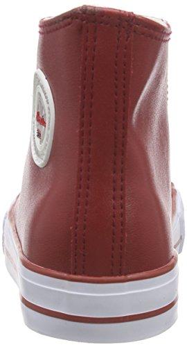 Nebulus Voll-Leder-Evo, Baskets Basses Femme Rouge - Rouge