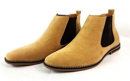 Herren Chelsea Boots, Wildleder, italienischer Stil, sportlich-elegant, Wildleder, camel, UK9 / EUR 43 Camel