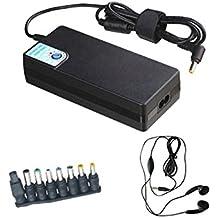 Adaptador de corriente de 120W Amsahr universal del reemplazo con el auricular estéreo para la mayoría de ordenador portátil
