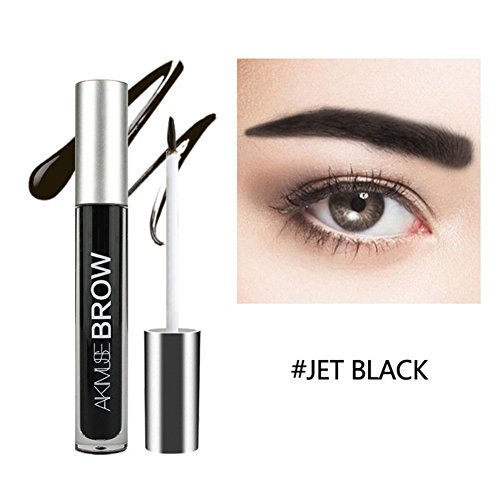 Sourcils Gel, Huoju Teinture Pour Sourcils Semi - Permanente à Long Terme Naturel De Gel with Brush Set (Jet Noir)