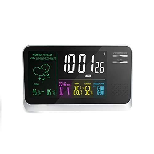 WAVENI Reloj multifunción Digital de Color Inteligente con Temperatura de Humedad, previsión meteorológica, Pantalla