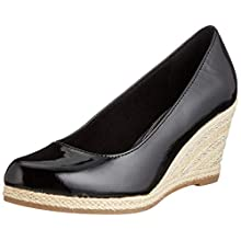 MARCO TOZZI Women's 2-2-22440-24 Platform Heels, Black Patent 018, 4 UK