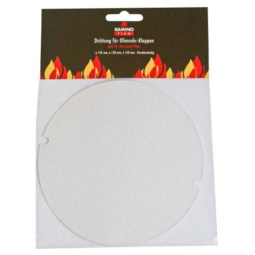 Preisvergleich Produktbild Kamino Flam Dichtung (für Ofenrohr-Klappen, Abdichtung aus Calcium-Magnesium-Silikatfasern, Flachdichtung hitzebeständig bis 1200°C, Rohrdichtung zum Zuschneiden, passend für Rohre mit Ø 120 - 150 mm)