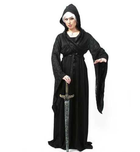 (Midnight Damen Kleid mit Kapuze Gr. XL)