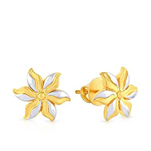Malabar Gold and Diamonds 22k Two Colour Gold Stud Earrings