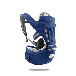 SONARIN 3 in 1 Multifunktion Hipseat Baby Carrier, Babytrage, Vorder und Rückseite,100% Baumwolle,Ergonomisch,Freie Größe,100% GARANTIE und KOSTENLOSE LIEFERUNG,Ideal Geschenk(Blau)