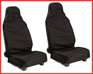 VAUXHALL CORSA D (2007 on) Front nylon water proof seat covers - BLACK