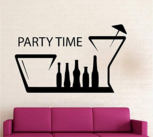Ponana Spaß Nachtclub Treffpunkt Positive Wandtattoo Partei Zeit Wandaufkleber Für Geburtstagsfeier Zitate Wandkunst Wandhauptdekoration 56X92 Cm