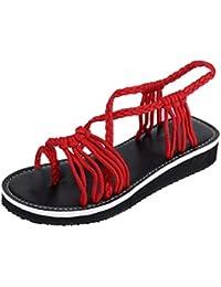 5e91ecd3d688 Amazon.co.uk  Red - Flip Flops   Thongs   Women s Shoes  Shoes   Bags