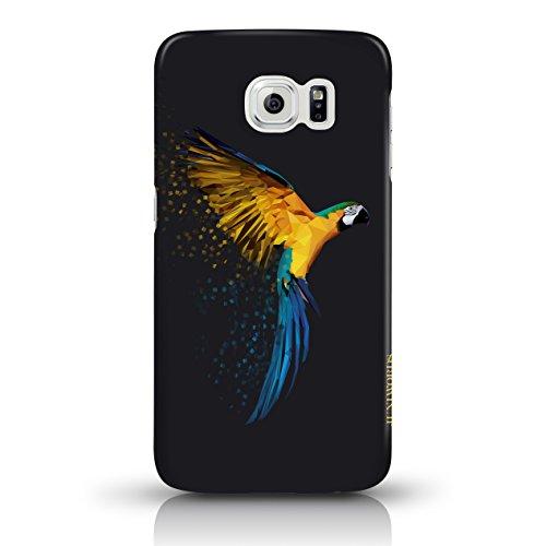 """JUNIWORDS Handyhüllen Slim Case für Samsung Galaxy S7 - Motiv wählbar - """"Anker Design 1 Dunkelblau"""" - Handyhülle, Handycase, Handyschale, Schutzhülle für Ihr Smartphone Papagei"""