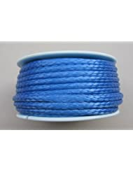 Dyneema–Bobina de cuerda trenzada (3mm, 15m), color azul