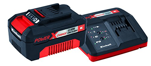 Einhell Starter Kit Akku und Ladegerät Power X-Change (Lithium Ionen, 18 V, 4,0 Ah Akku und Schnellladegerät, passend für alle Power X-Change Geräte) (Auto Batterie Direkt-kit)