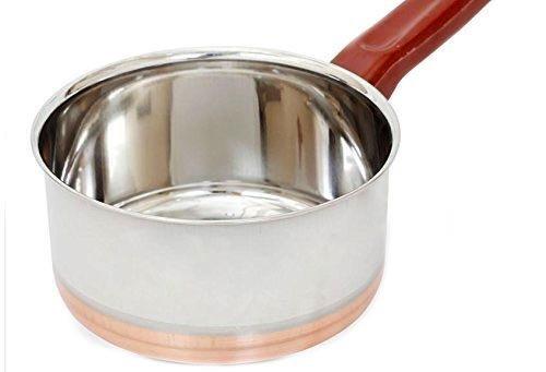Cuisson de fond de cuivre d'acier inoxydable utilisée pour préparer le thé, le café, l'ébullition couleur argentée taille 6 x 6 pouces, le jour de Pâques / fête des mères / cadeau du vendredi