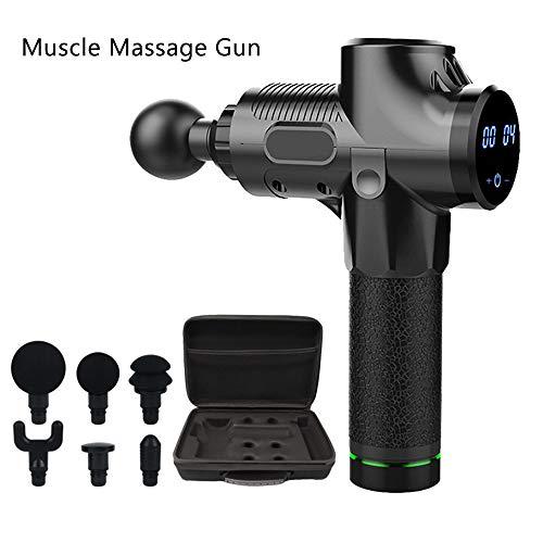 ZSLD Massagepistole Deep Tissue Percussion Muscle Massager, Mit 6 Köpfen, 20-Fach Elektrische Handbohrmaschine Tragbarer, Sehr Leiser, Bürstenloser Motor