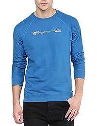Elaborado Men Round Neck Tshirt - Oxford Blue