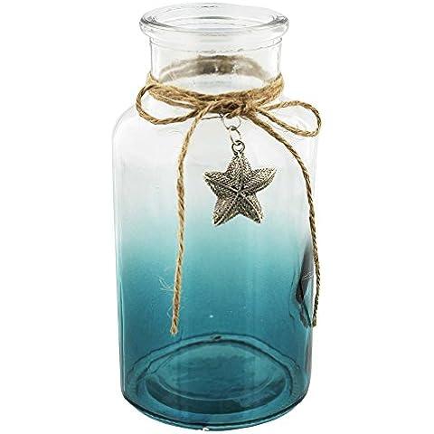 Nautical Shabby Chic-Barattolo in vetro con filo,