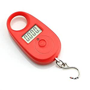 25Kg Digital Kitchen Weighing Scale / Luggage Hanging Weight Scale (RED)
