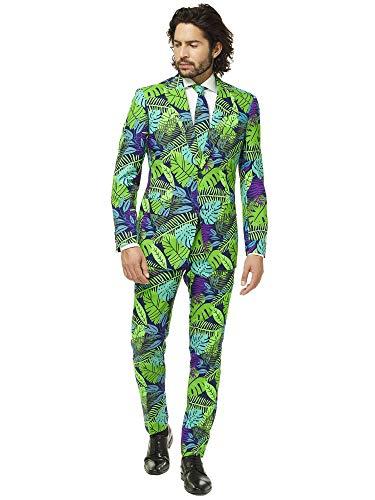 Opposuits Abschlussball kostüme für Herren - Mit Jackett, Hose und Krawatte mit Festlichen Print (Lustige Neue Kostüm)