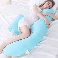 AFQHJ Pregnancy pillow cotton washable U-neck pillow, waist pillow multi-function side sleep pillow, pregnant woman pillow support back, buttocks, legs, pregnant belly (170cm × 80cm × 18cm)