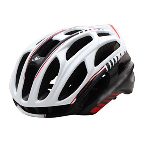 Dexinx Männer Frauen Stoßfest Atmungsaktiv Fahrradhelm Leichtgewicht Professionellem Mountainbike Helme Weiß Schwarz 57-63cm