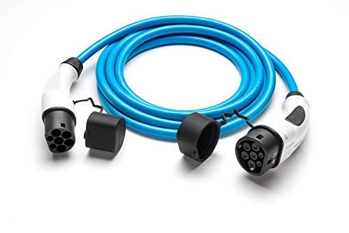 Typ 2 Ladekabel Elektroauto (Mode 3) | 32A 22 kW 3-phasig | Schnellladekabel | Farbe: Blau, Länge 7 Meter | für alle Typ 2 Fahrzeuge