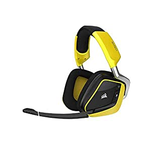 Corsair VOID PRO RGB WIRELESS Edition Spéciale Casque Gaming (PC, Sans Fil, Dolby 7.1) Jaune/Noir