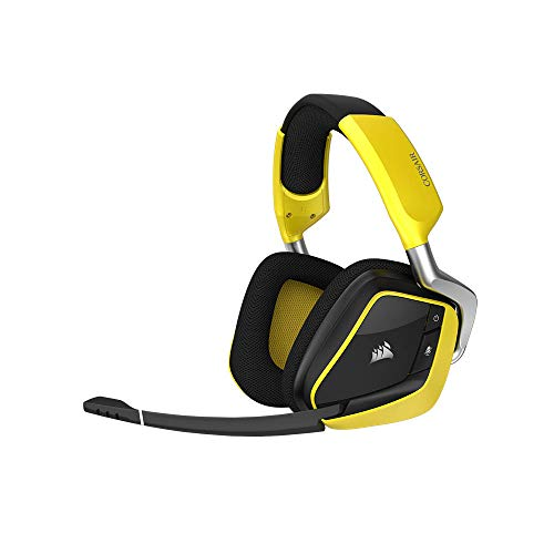 Corsair Void Pro RGB Wireless Special Edition - Auriculares Gaming (PC, Inalámbricos, Dolby 7.1) Color Amarillo