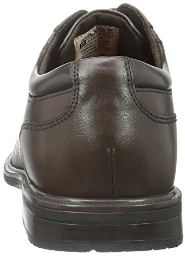 Rockport Essential Details II Plain Toe, Chaussures à Lacets Homme Marron - Braun (Choc Antique Lea)