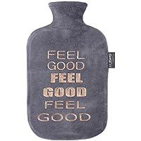 """Fashy Wärmflasche mit Nicki-Bezug und Folienprint""""Feel Good"""" preisvergleich bei billige-tabletten.eu"""
