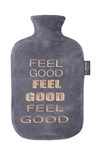 "Fashy Wärmflasche mit Nicki-Bezug und Folienprint ""Feel Good"""