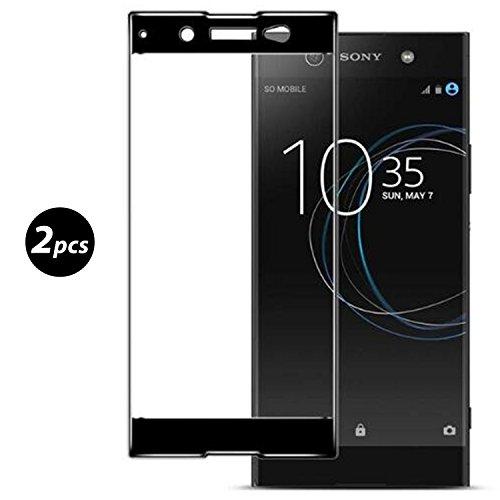 [2 Stück] Panzerglas Für Sony Xperia XA1 Ultra, Full Coverage Schutzfolie Displayschutzfolie, Schwarz