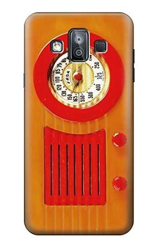 Innovedesire Vintage Orange Bakelite Radio Funda Carcasa Case para Samsung Galaxy J7 Duo