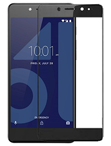 Plus 3D Edge Full Glue Front Body Cover Tempered Glass Screen Protector for Tenor G(Black)