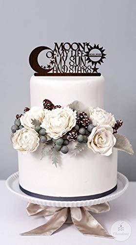 Tortenaufsatz für Hochzeitstorte, Motiv: Mond of My Life My Sun und Stern, Game of Thrones Got Cake Topper Drogo and Daenerys Targaryen (Baby-dusche Mond Und Sterne Design)