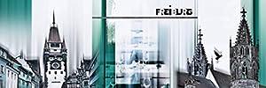 Poster Leinwand Bild Artland 301-00162-6 Nettesart Freiburg Skyline Abstrakte Collage in verschiedenen Größen Riesenauswahl in unserem Händlershop
