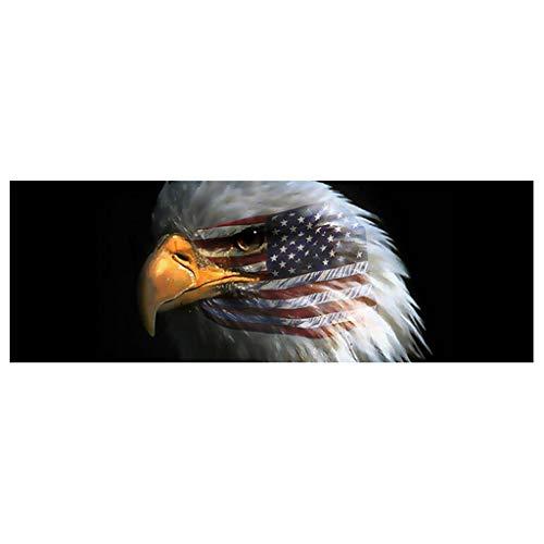 Xuniu Amerikanische Flagge Weißkopfseeadler Heckscheibe Grafik Aufkleber Für LKW Jeep SUV Auto Dekoration (Heckscheibe Jeep Aufkleber)