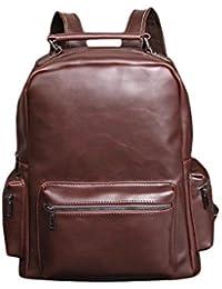 Simple Leather School Backpack For Men & Women