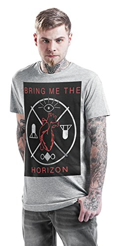 Bring Me The Horizon Heart and Symbols T-Shirt grau meliert Grau Meliert
