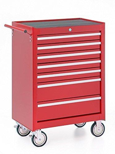 Werkstattwagen, 7 Schubladen, rot