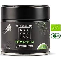 Matcha Premium 100% Ecológico (30 g) | Té verde en polvo Orgánico de Japón | Té Matcha de grado ceremonial premium BIO | Matcha & CO