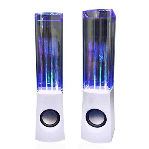 Meisijia Bluetooth Tanzen Wasser Lautsprecher Brunnen LED Licht Zeigen Drahtlose Lautsprecher 4 Farbe Tragbare Wiederaufladbare 2 ST¨¹CKE