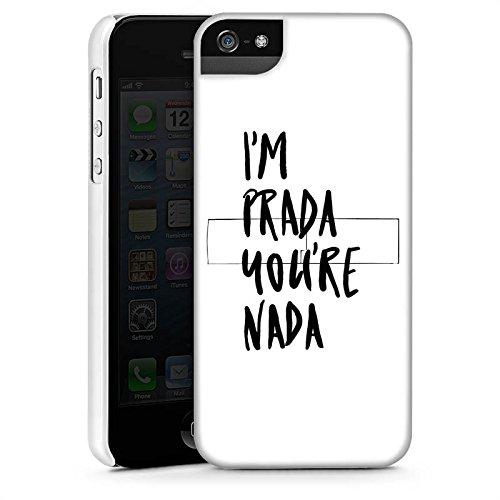 Apple iPhone 8 Plus Silikon Hülle Case Schutzhülle Prada Luxus Statements Premium Case StandUp