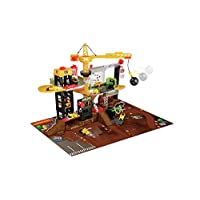 Amazing Crystal Gifts Chad Valley Lights and Sounds Construction Playset With Crane, Wrecking Ball, Manual Car Lift, Rotary Platforms And Conveyor Belt
